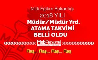 MEB 2018 Müdür ve Müdür Yardımcılığı Atama Takvimi(Resmi Yazı)