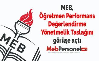 MEB, Öğretmen Performans Değerlendirme Yönetmelik Taslağını görüşe açtı