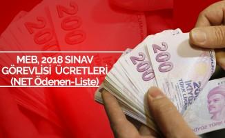 2018 MEB Sınav Görevlisi Net Ücretleri