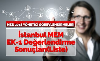 İstanbul MEM EK-1 Değerlendirme Sonuçları