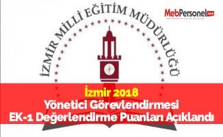 İzmir 2018 Yönetici Görevlendirmesi EK-1 Değerlendirme Puanları Açıklandı