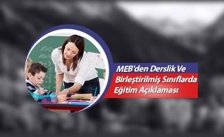 MEB'den Derslik Ve Birleştirilmiş Sınıflarda Eğitim Açıklaması