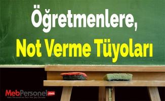 Öğretmenlere, Not Verme Tüyoları