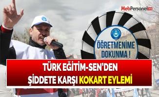 TÜRK EĞİTİM-SEN'DEN ŞİDDETE KARŞI KOKART EYLEMİ
