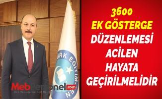 3600 EK GÖSTERGE DÜZENLEMESİ ACİLEN HAYATA GEÇİRİLMELİDİR