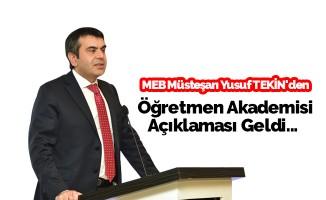"""MEB Müsteşarı Tekin'den """"öğretmen"""" açıklaması"""