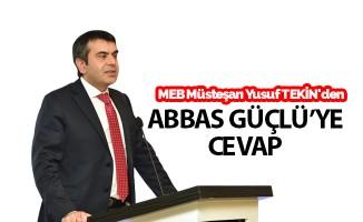 MEB Müsteşarı Yusuf Tekin'den Abbas Güçlü'ye Cevap