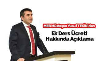 Müsteşar Tekin'den Hafta Sonu Semineri Ek Ders Ücreti Açıklaması