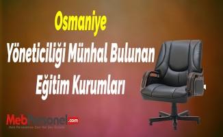 Osmaniye Yöneticiliği Münhal Bulunan Eğitim Kurumları