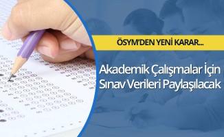 ÖSYM, akademik çalışmalar için sınav verilerini paylaşacak