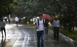 Ülke genelinde yağış var-Haritalı