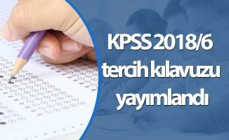 KPSS 2018/6 tercih kılavuzu yayımlandı