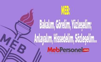 MEB: Bakalım, Görelim, Yüzleşelim; Anlayalım, Hissedelim, Sözleşelim...