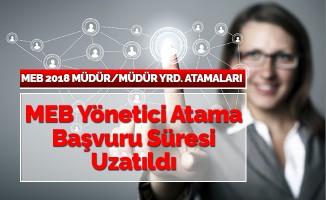 MEB Yönetici Atama Başvuruları Uzatıldı
