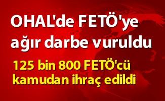 OHAL'de  125 bin 800 FETÖ'cü kamudan ihraç edildi