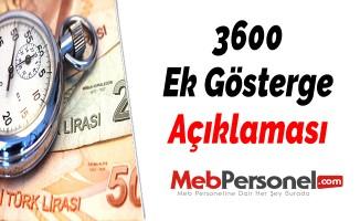 3600 Ek Gösterge Açıklaması