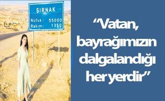 Öğretmen Pınar Demiray Şırnak'a gitti .