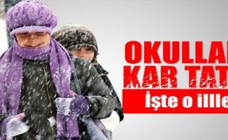 İki İlde Okullara Kar Tatili