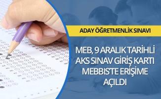 MEB, adaylık kaldırma sınavı giriş kartlarını yayımladı