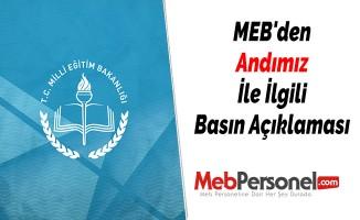 MEB'den Andımız İle İlgili Basın Açıklaması
