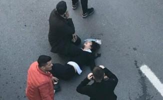 Ortaokul öğrencisi köprülü kavşaktan aşağı düştü