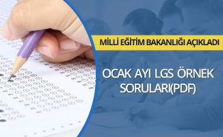 MEB, Ocak ayı LGS örnek sorularını yayımladı