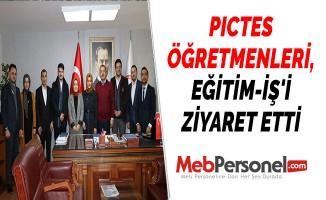 PICTES ÖĞRETMENLERİ, EĞİTİM-İŞ'İ ZİYARET ETTİ