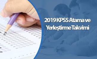 2019 KPSS Atama ve Yerleştirme Takvimi