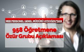 MEB Personel Genel Müdürü Hamza Aydoğdu'dan 958 Öğretmen İçin Açıklama