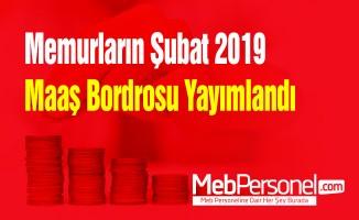 Memurların Şubat 2019 maaş bordrosu yayımlandı