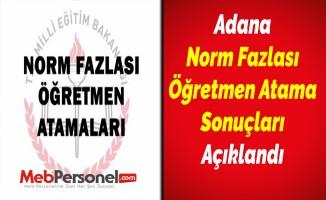 Adana Norm Fazlası Öğretmen Atama Sonuçları Açıklandı