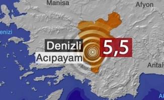 Denizli'de 5,5 büyüklüğünde deprem... Diğer illerde de hissedildi