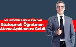 MEB'den Sözleşmeli Öğretmen Atama Açıklaması