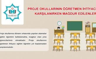 Proje Okullarının Öğretmen İhtiyacı Karşılanırken Mağdur Edilenler!