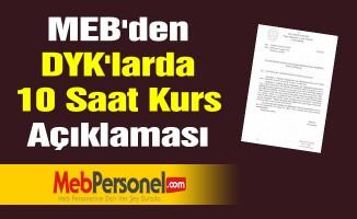 MEB'den ''DYK'larda 10 Saat Kurs'' Açıklaması