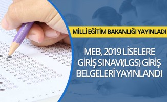 MEB LGS Giriş Belgelerini Yayınladı