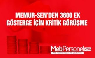 Memur Sen'den Kritik 3600 Ek Gösterge Görüşmesi