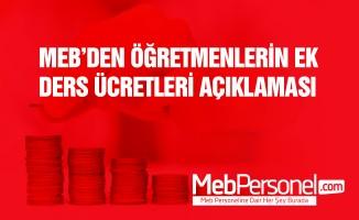 MEB'den ek ders ücreti hakkında önemli görüş yazısı