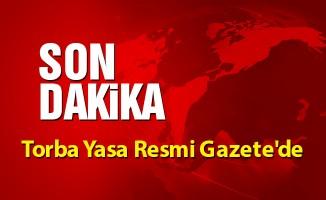 Torba Yasa Resmi Gazete'de
