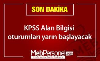 KPSS Alan Bilgisi oturumları yarın başlayacak
