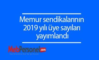 Memur sendikalarının 2019 yılı üye sayıları Resmi gazetede yayımlandı.