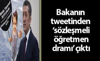 Bakanın tweetinden 'sözleşmeli öğretmen dramı' çıktı