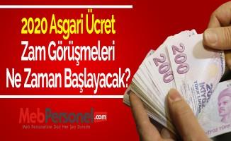 2020 Asgari ücret, zam görüşmeleri ne zaman başlayacak?