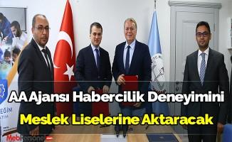 Anadolu Ajansı Habercilik Deneyimini Meslek Liselerine Aktaracak
