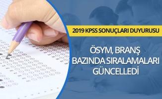 ÖSYM, KPSS branş bazında sıralamaları güncelledi