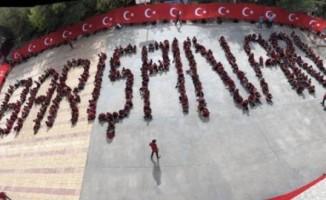 Lise öğrencilerinden 'Barış Pınarı' koreografisi