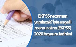 EKPSS ne zaman yapılacak? İşte engelli memur alımı (EKPSS) 2020 başvuru tarihleri