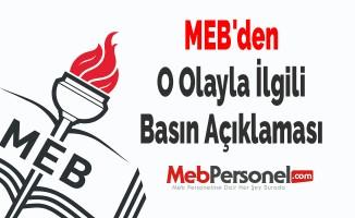 MEB'den O Olayla İlgili Basın Açıklaması