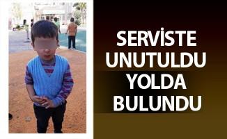 SERVİSTE UNUTULDU YOLDA BULUNDU