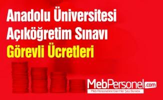 Anadolu Üniversitesi Açıköğretim Sınavı Görevli Ücretleri